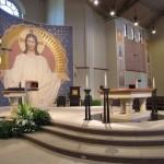 Glass work done by Tri-County Glass Inc.   Prince of Peace Catholic Church - Kearney, NE